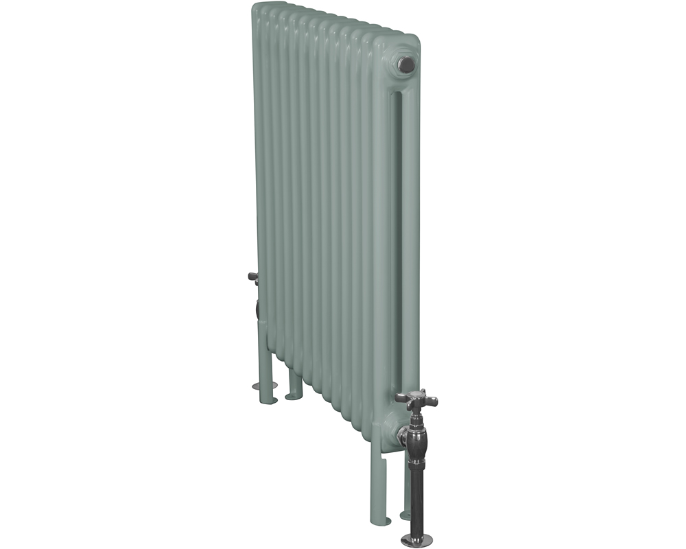 Home-Refresh-Enderby-2-Column-13-Section-Steel-Radiator-710mm-Farrow-and-Ball-Oval-Room-Blue-Colour-Finish