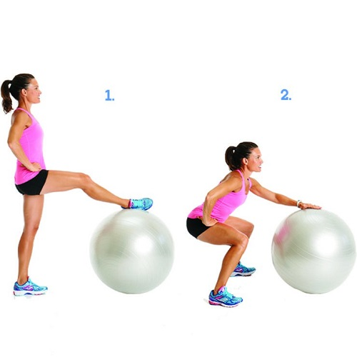 Standing Abduction Squats for cellulite