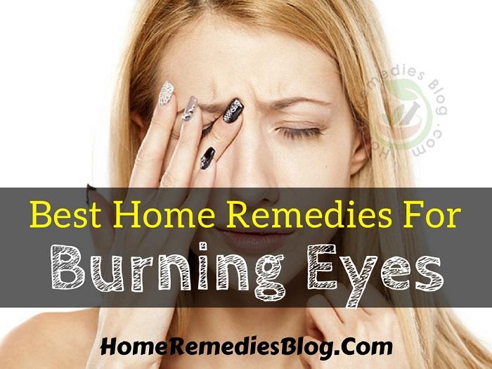 Burning Eyes Home Remedy