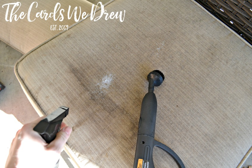 how to clean patio cushions by the