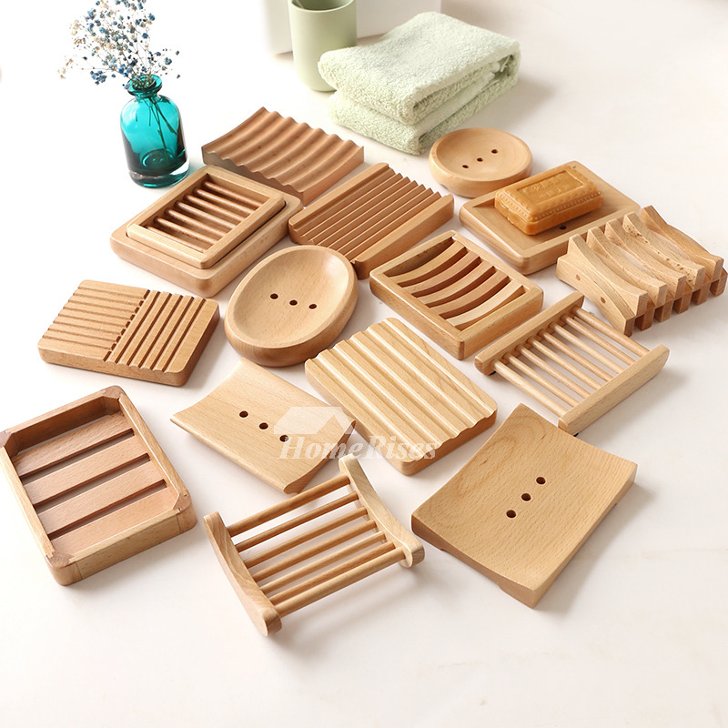 MUS Simple Japanese Style Wooden Soap Dish No11 15