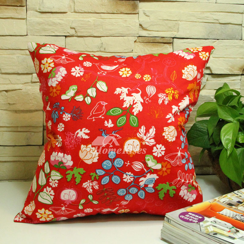 Laying your tired head on one of the best down pillows you can. Cheap Cotton Country Floral Red Throw Pillows For Couch