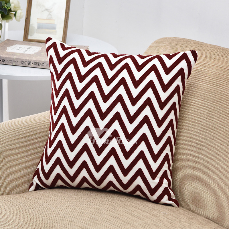But they do not af. Modern Red Chevron Linen Throw Pillows For Couch