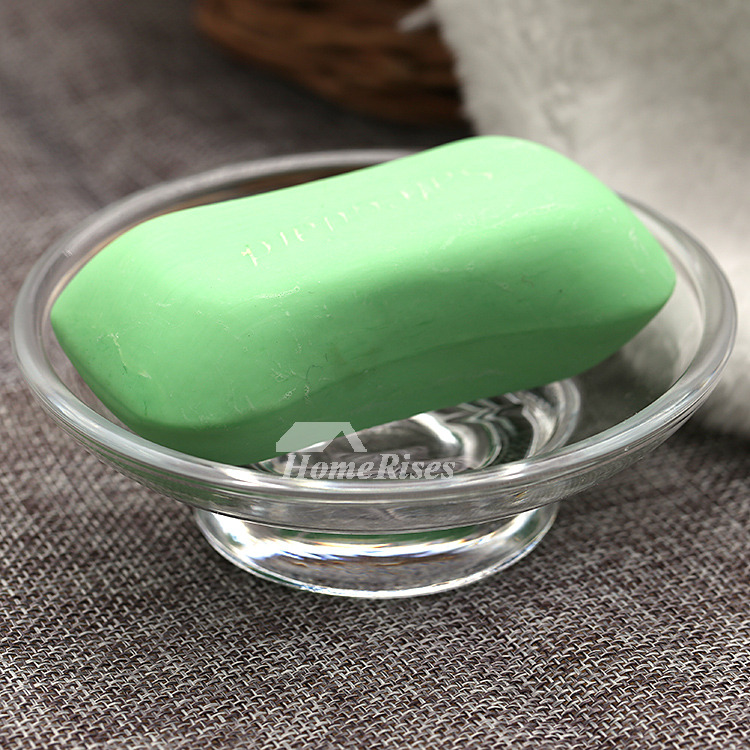 Cheap RoundOval Shaped Glass Soap Dish Free Standing