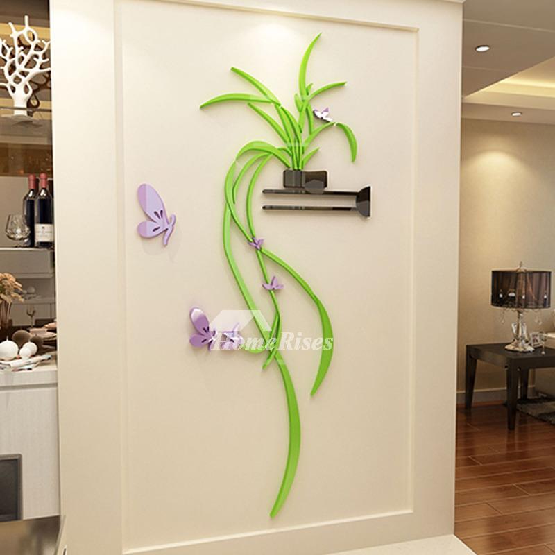 Kitchen Wall Decor Bedroom Acrylic Modern Living Room 3d