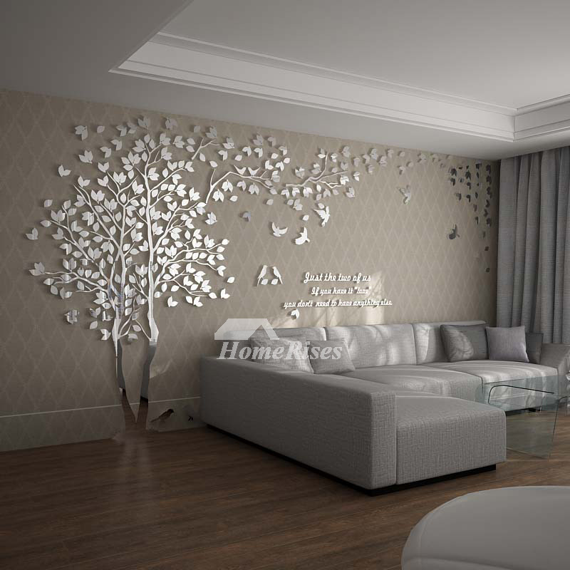Wall Decals For Living Room Tree Acrylic Home Personalised ... on Room Wall Decor id=79894