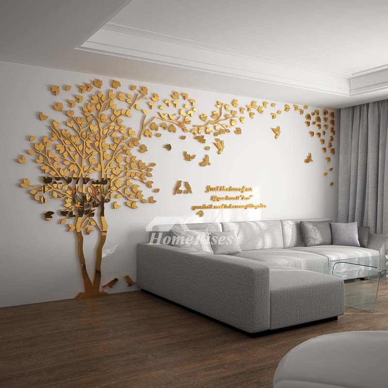 Wall Decals For Living Room Tree Acrylic Home Personalised ... on Room Decor Stickers id=87241