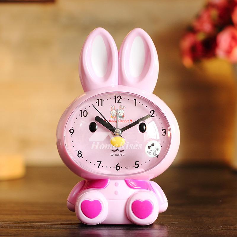 Pink Alarm Clock ABS Plastic Cute Loud Cartoon Best