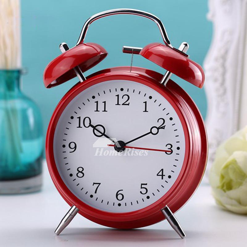 Loud Alarm Clock BlackRedYellow Metal Painting Battery