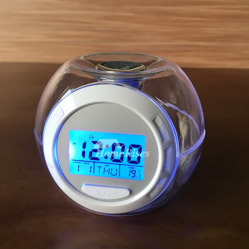 Digital Alarm Clock ABS Light Mmodern Battery Operated White