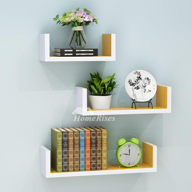 Wall Book Shelves Wooden Living Room Modern Design Rectangular on Shelf Sconces For Living Rooms Contemporary id=91495
