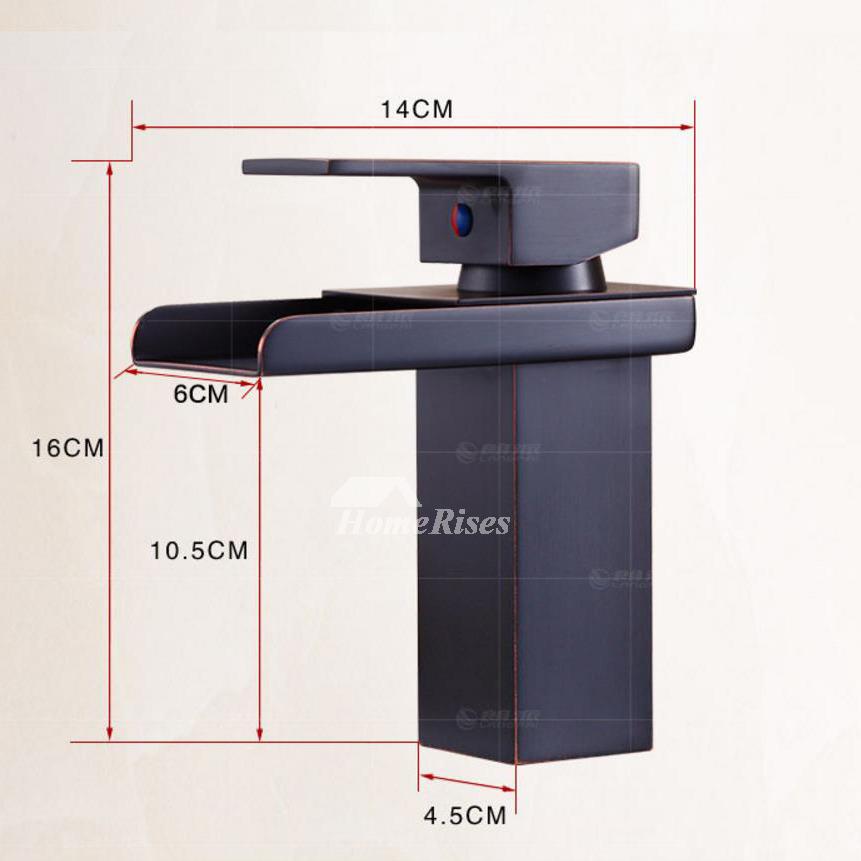 oil rubbed bronze bathroom faucet black single handle vessel waterfall