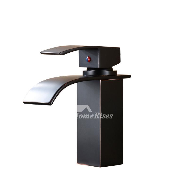 waterfall bathroom faucet black oil rubbed bronze centerset single handle