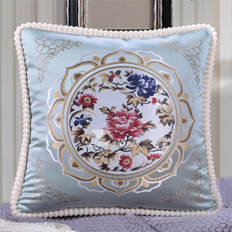 Vintage Square Decorative Couch Pillows BurgundyCream