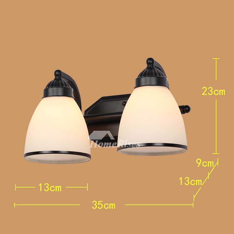 Wall Sconce Lights Wrought Iron Glass Shade Mount Black ... on Wrought Iron Sconces Wall Lighting id=69647