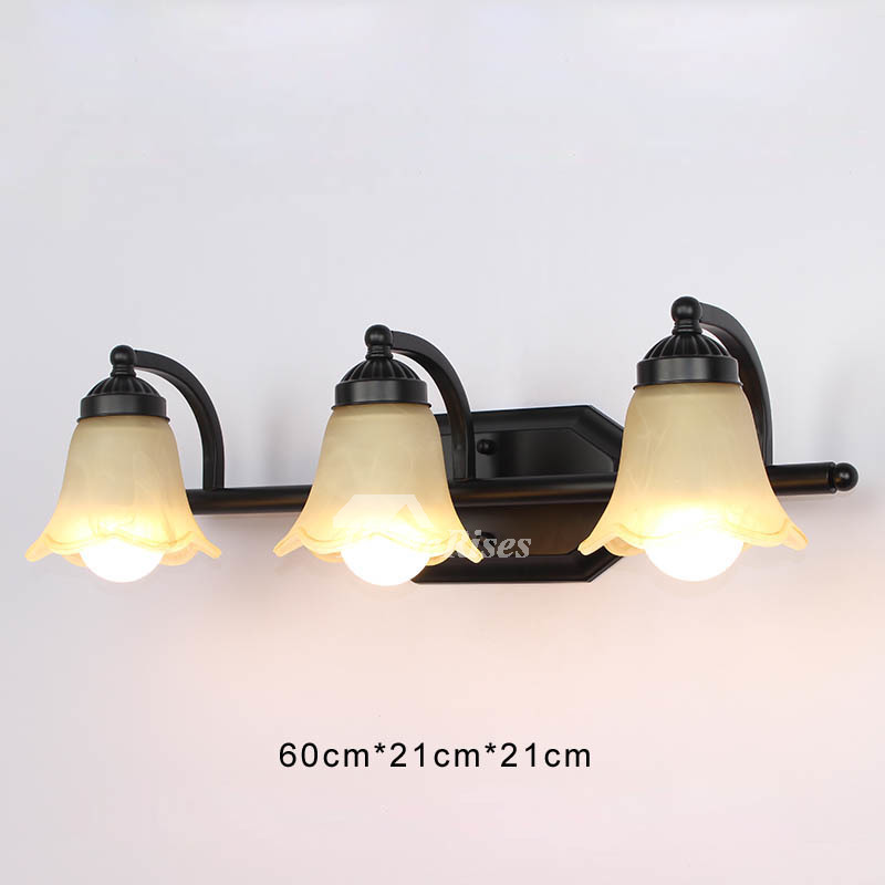 Wall Sconce Lights Wrought Iron Glass Shade Mount Black ... on Wrought Iron Sconces Wall Lighting id=16330