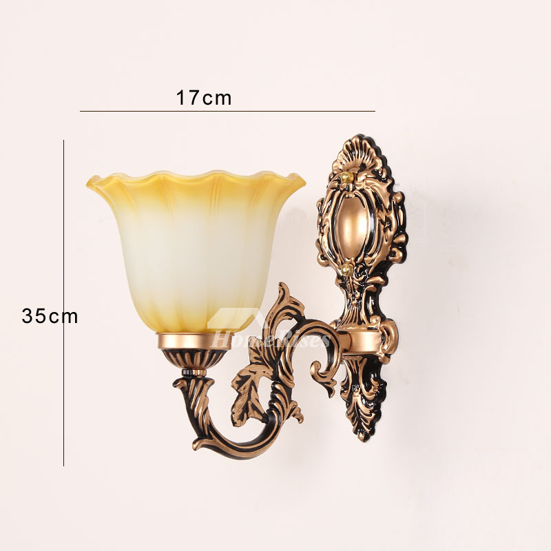 Bathroom Wall Sconce 2 Light Hardware Glass Decorative ... on Bathroom Wall Sconce Lighting id=74354
