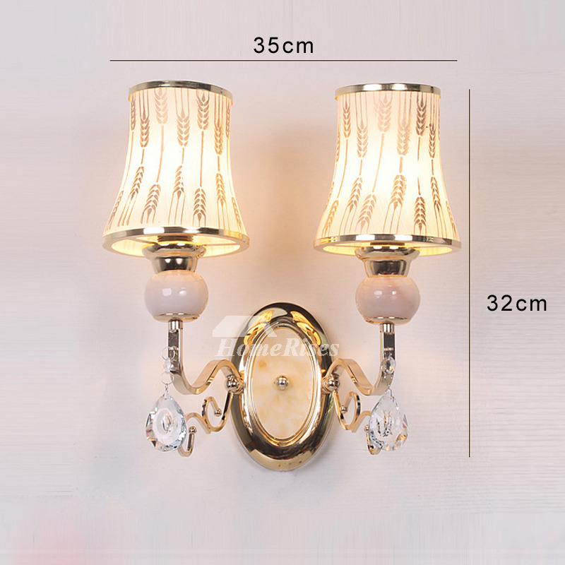 Wall Light Sconces Glass Hardware Modern Bathroom 2 Light ... on Modern Indoor Wall Sconce id=38110