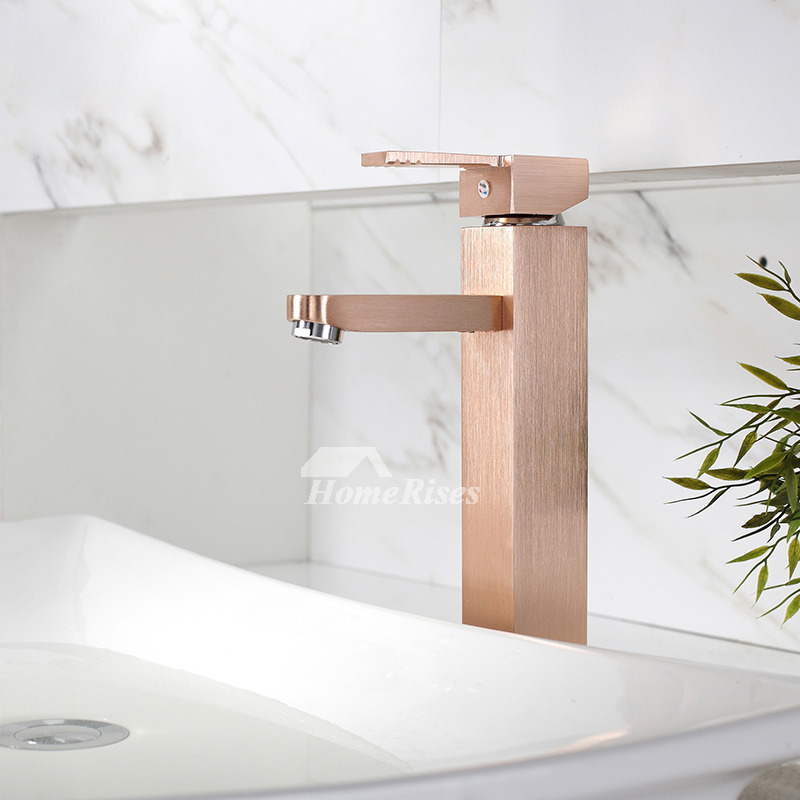 cool bathroom faucets single handle champagne gold solid 1 hole