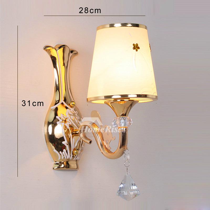 Crystal Wall Sconce Lighting Bathroom Art Deco 2 Light ... on Crystal Bathroom Sconces id=65861