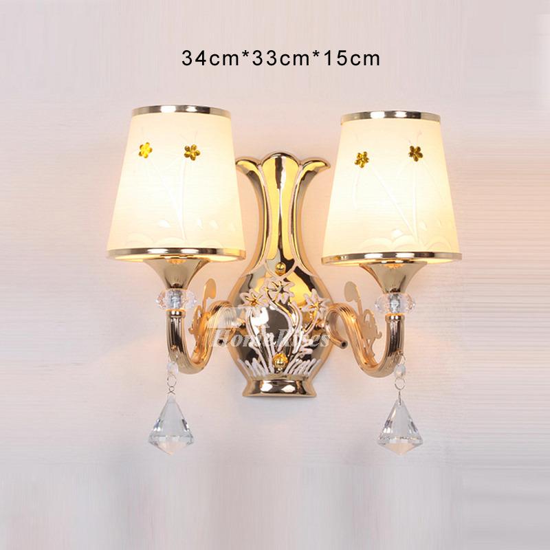 Crystal Wall Sconce Lighting Bathroom Art Deco 2 Light ... on Bathroom Wall Sconce Lighting id=32666