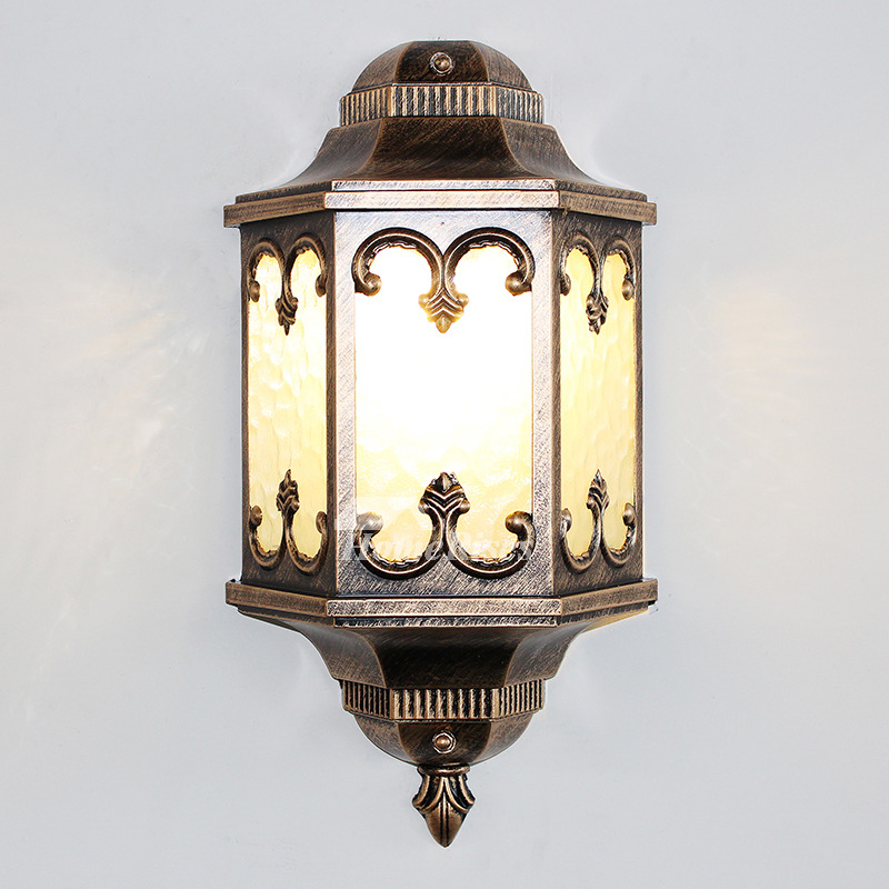 Antique Wall Sconces Glass Wrought Iron Decorative E27 ... on Wrought Iron Sconces Wall Lighting id=30476
