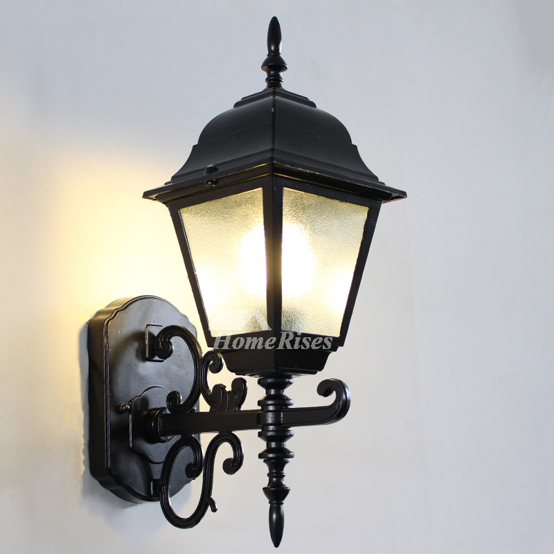 Designer Rustic Wall Sconces Outdoor Glass Wrought Iron ... on Wrought Iron Sconces Wall Lighting id=84954