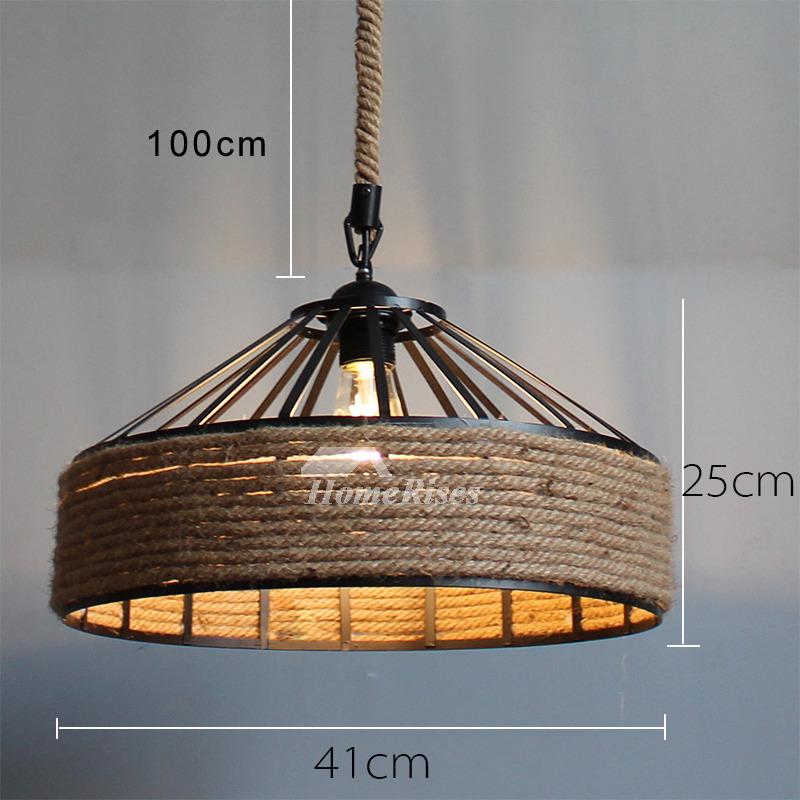 rustic pendant lighting industrial hanging designer rope fixture