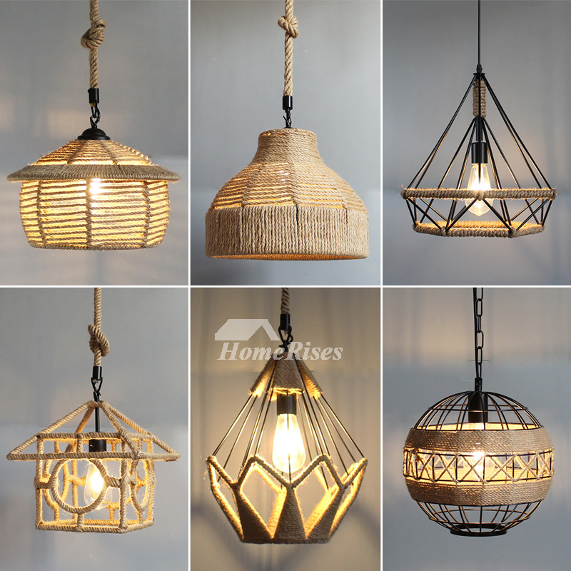 Rustic Pendant Lights Hanging Rope For Kitchen Hollow Cheap Lighting Photo Gallery