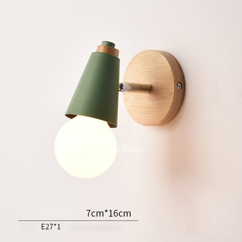 Modern Small Wall Sconces Decorative Metal Wood Kids Lighting on Wood Wall Sconces id=78615