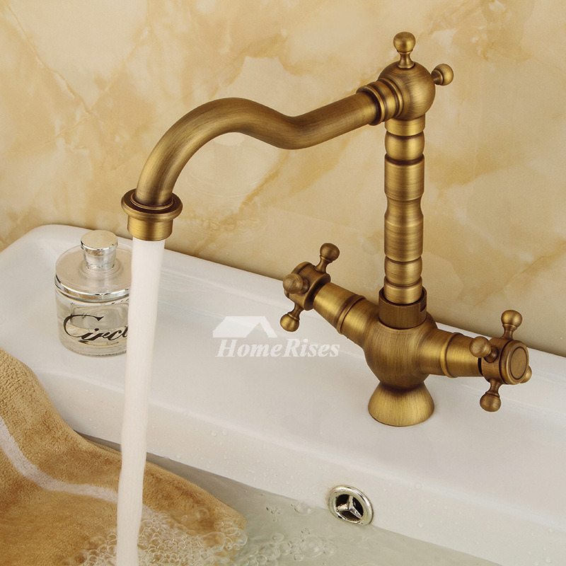 vintage bathroom faucets antique brass gold high arc gold 2 handle