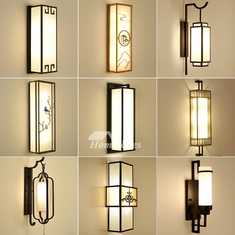 Wall Sconce Lighting Asian Fabric Rectangule Wrought Iron ... on Wrought Iron Sconces Wall Lighting id=80958