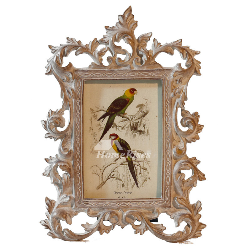 Unique Vintage Picture Frames PinkWhite Resin Glass
