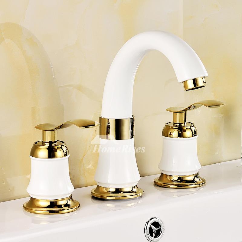Roman Bathtub Faucet Ceramic Brass Polished Widespread 3 Hole Best