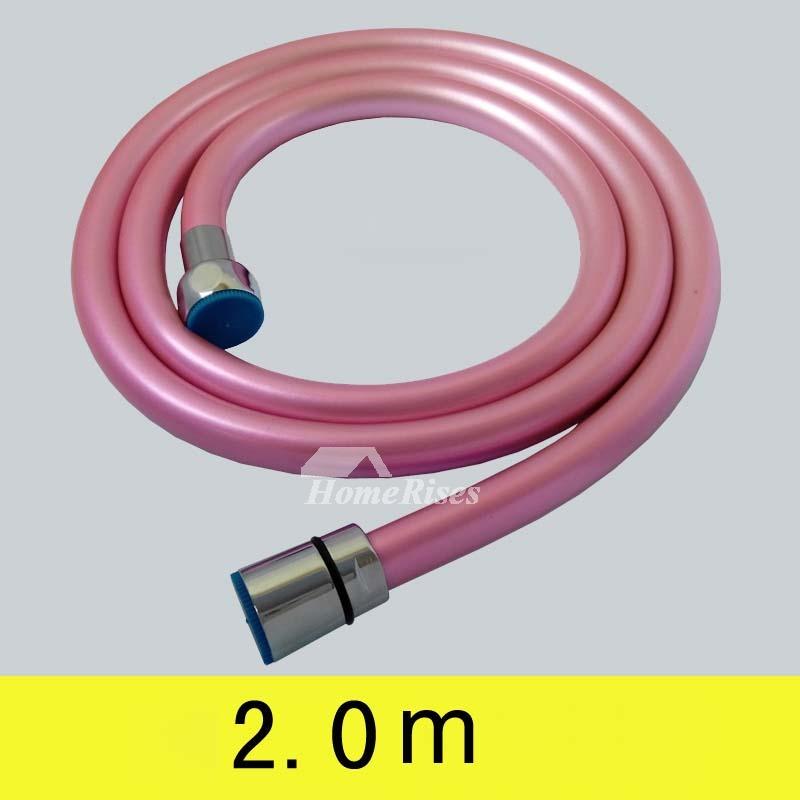 pink yellow green bathroom faucet hose installation kitchen pvc