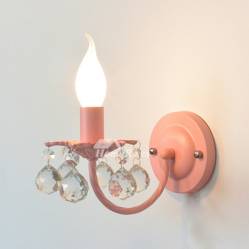 Crystal Wall Sconce Lighting Wrought Iron Decorative ... on Crystal Bathroom Sconces id=76216