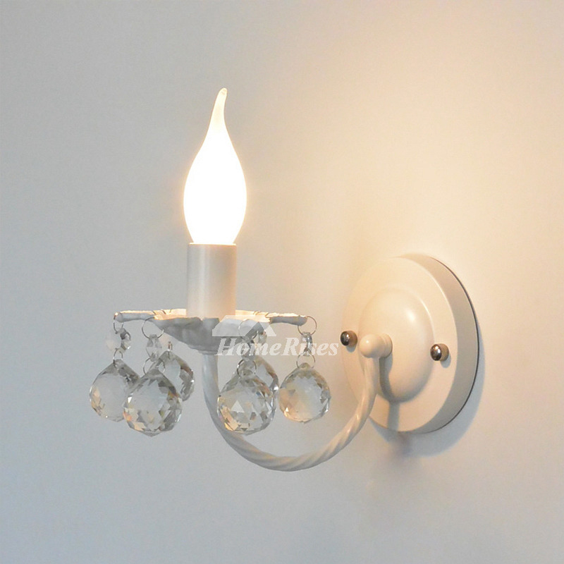 Crystal Wall Sconce Lighting Wrought Iron Decorative ... on Crystal Bathroom Sconces id=39350