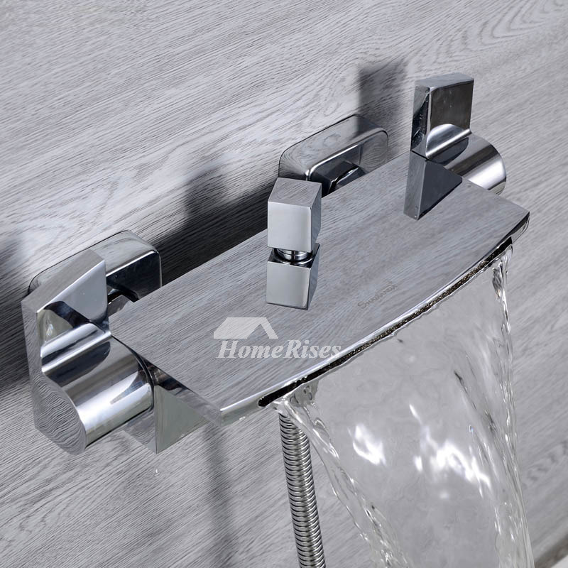 wall mount chrome oil rubbed bronze tub faucet silver black waterfall