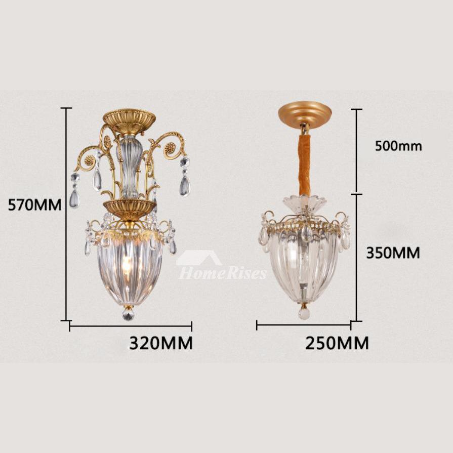 Mini Crystal Chandeliers Glass Metal Lighting Foyer