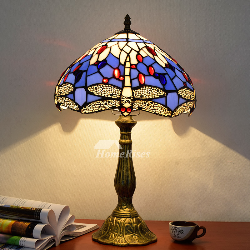 tiffany dragonfly lamp stained glass alloy fixture style lighting for sale