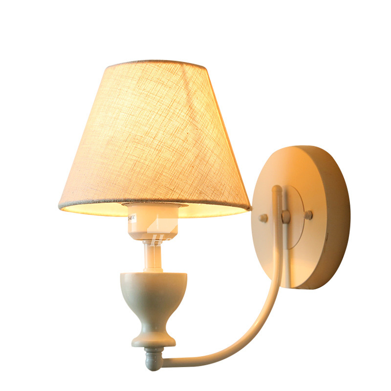 Rustic Wall Sconces Fabric White Decorative Lighting ... on Wrought Iron Sconces Wall Lighting id=53482