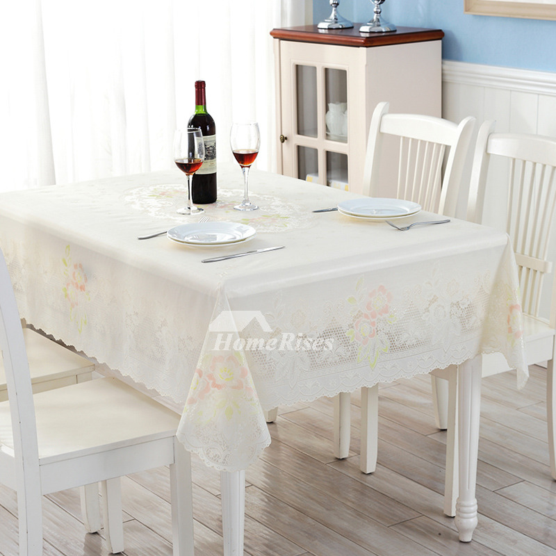 Waterproof Oblong Pvc Gold Tablecloth 70 Inch Outdoor