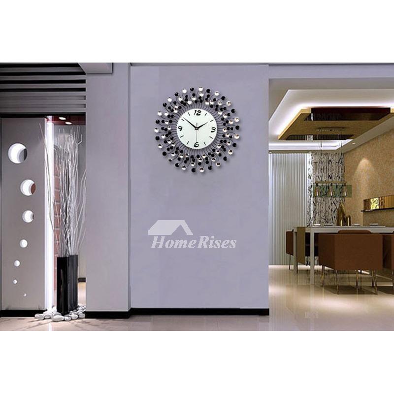 Modern Decorative 20 Inch WhiteBlackBlue Unique Large Wall Clock
