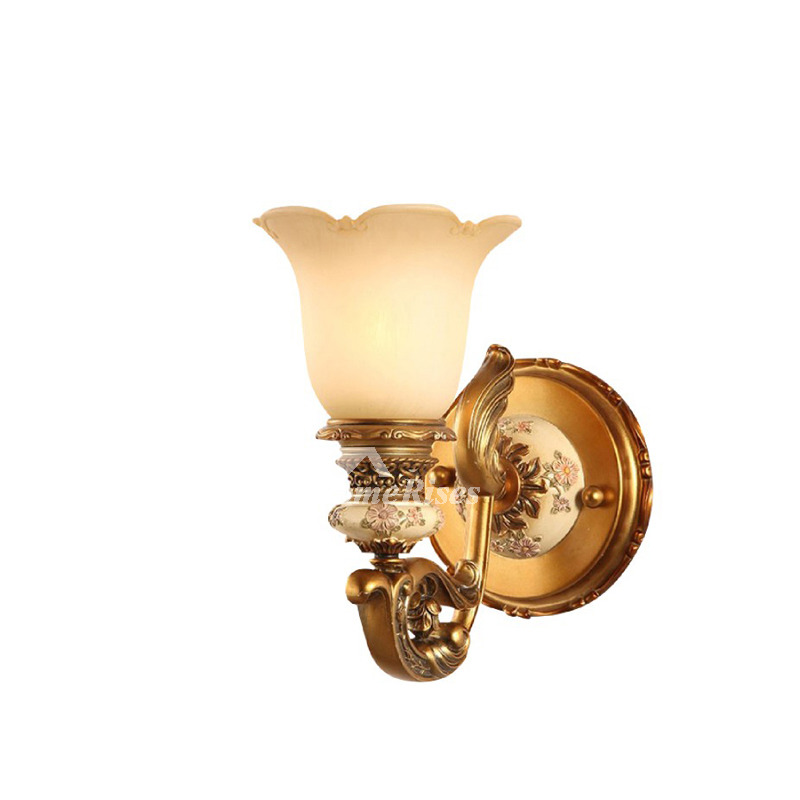 European Style Decorative Wall Sconces Indoor Bedroom Gold ... on Wall Sconce Lighting Decor id=64270
