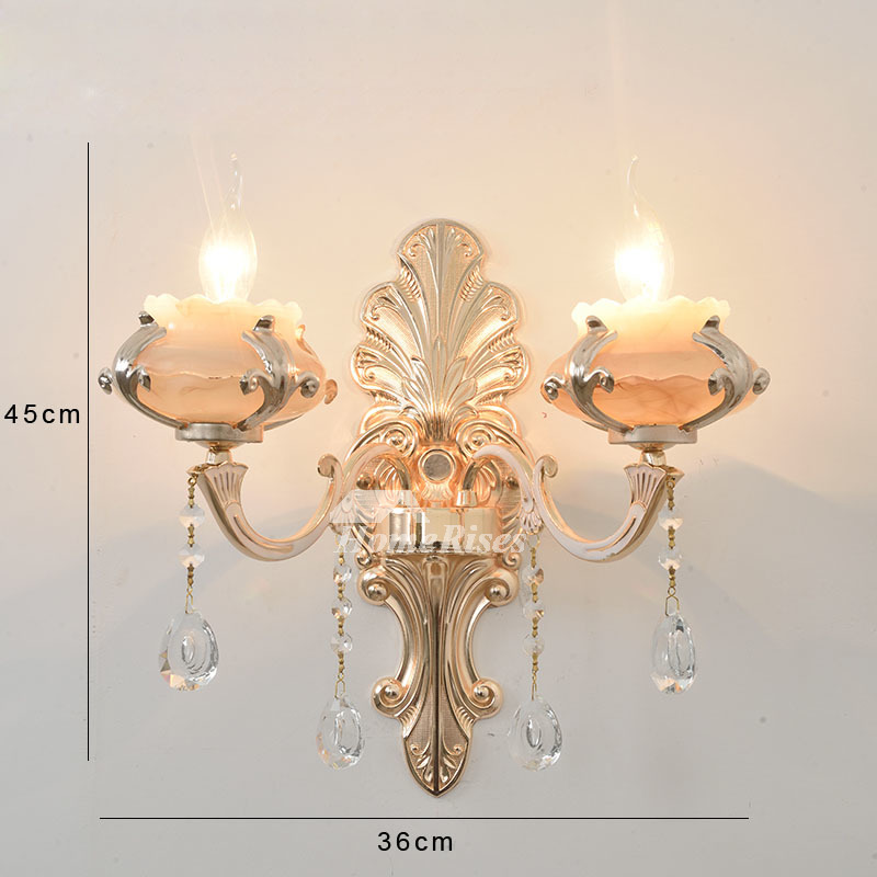 Glass Crystal Candle Wall Sconce Flower Lamp Shade ... on Candle Wall Sconces With Flowers id=73061