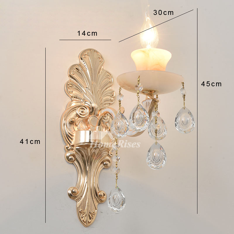 Glass Crystal Candle Wall Sconce Flower Lamp Shade ... on Candle Wall Sconces With Flowers id=74664