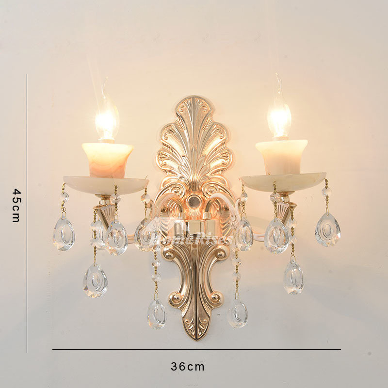 Glass Crystal Candle Wall Sconce Flower Lamp Shade ... on Candle Wall Sconces With Flowers id=46414