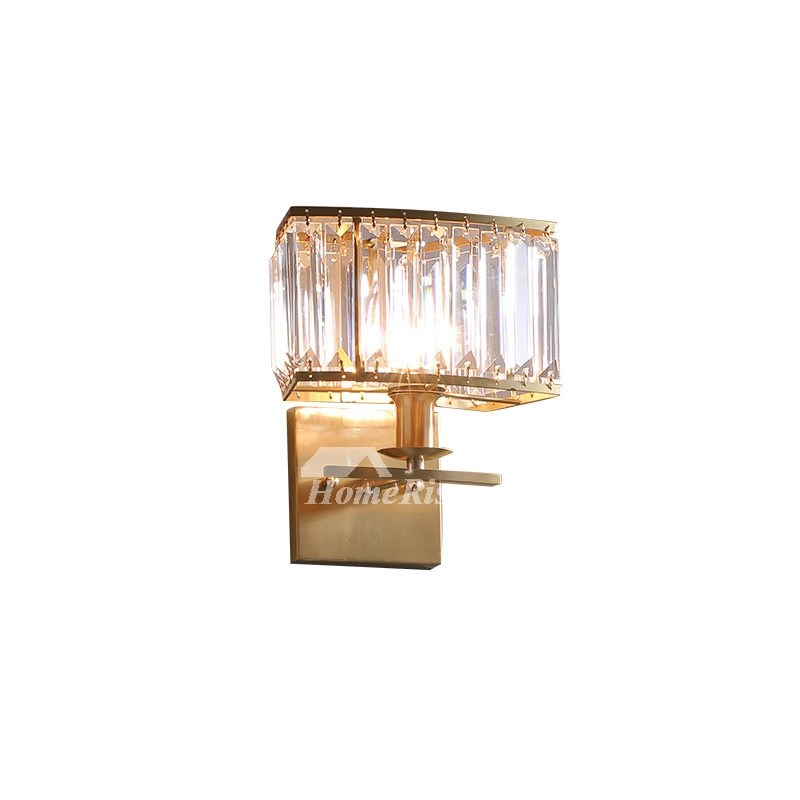 Outdoor Wall Sconce Brass Crystal Bedside Bathroom Luxury ... on Crystal Bathroom Sconces id=18481