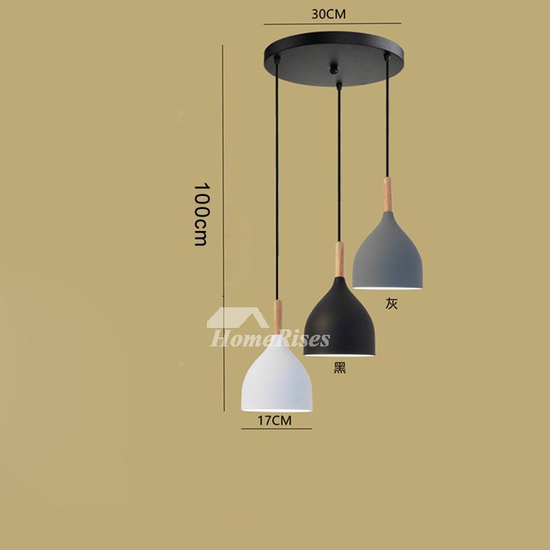 industrial pendant lighting bar counter 3 light kitchen foyer modern black chassis fish line chandelier