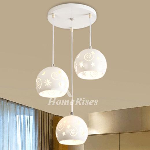 foyer pendant lighting 3 light kitchen modern white chassis fish line chandelier carved world map